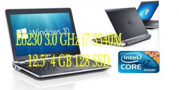 "DELL Latitude E6230 3.0 GHz i7-3540M 12.5""  4 GB 128 SSD WIFI-WEBCAM-1366 x 768Pixel CON WINDOWS 7-10 PRO GARANZIA 180 GIORNI"
