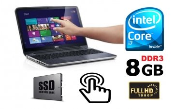 "DELL Latitude E7240 2.1GHz i7-4600U 12.5"" 8GB 128SSD (TOUCH SCREEN )  WINDOWS 7-10 PRO GARANZIA 12 MESI"