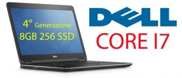 "DELL Latitude E7440 3.3GHz max turbo i7-4600U 14"" 8 Gb 256 ssd  web cam con windows 7 -10 pro-Garanzia 12 mesi"