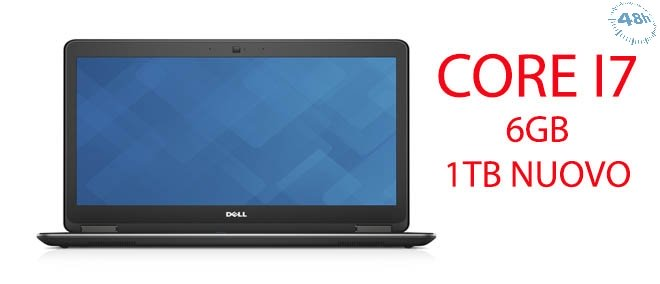 DELL Latitude E7440 6GB 1TB HD 3.3GHz max turbo i7-4600U 14 dvd-rw-webcam con windows 7 -10 pro-Garanzia 12 mesi