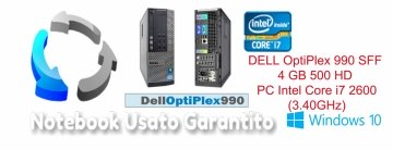 DELL OptiPlex 990 SFF 4  GB 500 HD  PC Intel Core i7 2600(3.40GHz con scheda video dedicata