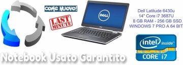 "Dell Latitude 6430u - 14"" - Core i7 3687U - 8 GB RAM - 256 GB SSD-WINDOWS 7 PRO A 64 BIT"