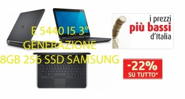 Dell Latitude E5440 Core i5-4300U 4.Gen 2.9 MAX TURBO 8Gb 256 SSD  WEBCAM-WIFI WINDOWS  7 o 10  HDMI  Garanzia 12 mesi