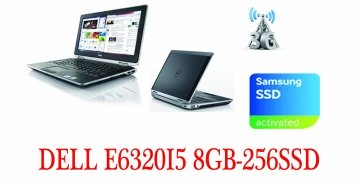 "Dell Latitude E6320  2520m 13.3"" - Core i5 2520M - Windows 7 Pro - 8 GB RAM – 256 ssd  con modulo 3g-garanzia"