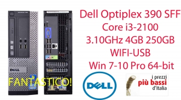 Dell Optiplex 390 SFF Computer Core i3-2100 3.10GHz 4GB 250GB WIFI-USB Win 7-10 Pro 64-bit
