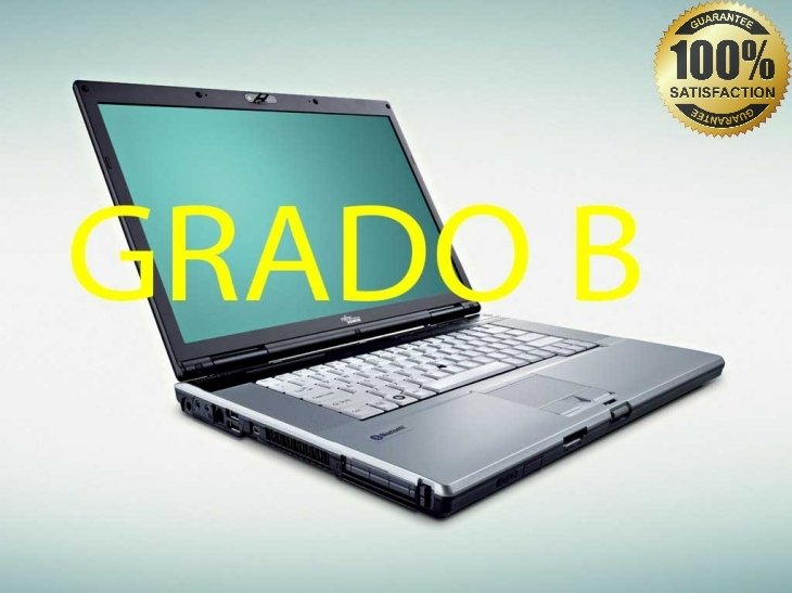 "(GRADO B)Fujitsu Siemens Lifebook E8310 15.4 ""Intel Core 2 Duo T8100 @2.10ghz 160HD 2GB Ram-no dvd-rw –Batteria non garantita .Windows 7 pro copia"