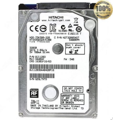 "HARD DISK INTERNO (usato) 2,5"" da 5200 mhz 320 GB SATA 8MB VARIE MARCHE x NOTEBOOK PC PORTATILE"