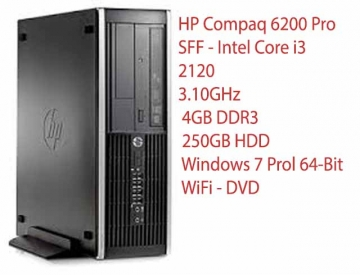 HP 6200PRO  I3 2100 3.1GHZ 4096 RAM 250 HD -WIFI USB -DVD-WINDOWS 7 PRO O 10 GARANZIA