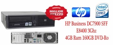 HP  Business DC7900 SFF E8400 3Ghz 4GB Ram 160GB DVD-Rom Windows 7 GARANZIA 180 GIORNI