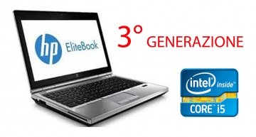 "HP EliteBook 2570p  di 3° GENERAZIONE -12.5 ""- I5 3210M - Windows 7 Pro 64-bit - 4 GB di RAM - 320 HDD-WIFI WEBCAM CON WINDOWS 7-10"