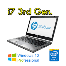 "HP EliteBook 8470p 2.9GHz (3.6GHZ MAX TURBO)  i7-3520M 14"" 8GB-180SSD DVD-RW CON WINDOWS 7-10 PRO –GARANZIA"
