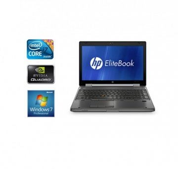 "HP EliteBook 8560w Core i7 2820QM 2.3 Mhz 15.6""1920x1080 8 GB- 500HD DVD-RW/Wi-Fi/Bluetooth Win 7 Pro -Scheda grafica dedicate da 2gb"