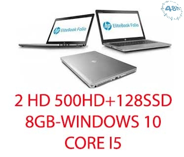 HP EliteBook Folio 9470m 14 LED Ultrabook Intel Core i5-3427U 2.3 GHz 8 GB +2HD 500HD+128SSD Intel HD Graphics 4000 Windows 10  Professional 64-bit-GARANZIA 12 MESI