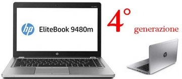HP EliteBook Folio 9480m 2GHz i5-4310U 4° Ge 4GB-320 14Argento Computer portatile-windows 10 GARANZIA 12 MESI