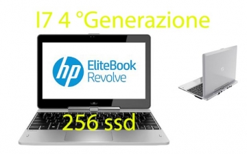 HP EliteBook Revolve 810 G2 2.1GHz i7-4600U 8gb 256 ssd windows 10 pro garanzia 12 mesi
