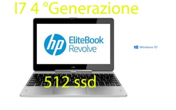 HP EliteBook Revolve 810 G2 i7-4600u  512 ssd 8 gb 2.1GHz windows 10 pro garanzia 12 mesi-Touch-Screen