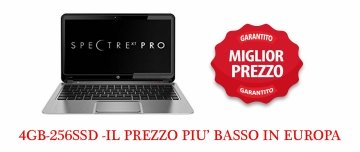 HP Spectre XT Pro 13.3 LED Ultrabook - Intel - Core i5 i5-3437U-3337U 2.9GHz Max Turbo- 4GB-256 SSD –WINDOWS 7 o 10 Pro Garanzia 12 mesi