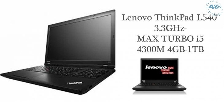 Lenovo ThinkPad L540 3.3GHz-MAX TURBO i5-4300M 4GB-1TB WEBCAM-WIFI-WINDOWS 7-10 PRO-Garanzia 12 mesi