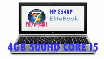 "NOTEBOOK HP ELITEBOOK 8540PIntel® CORE i5 2,53GHZ RAM 4GB DDR3 HARD DISK 500GB LCD 15.6"" HD WIFI - WEBCAM NVIDIA QUADRO NVS 5100M 1GB WINDOWS 7 PROFESSIONAL a 64 bit garanzia 180 giorni"
