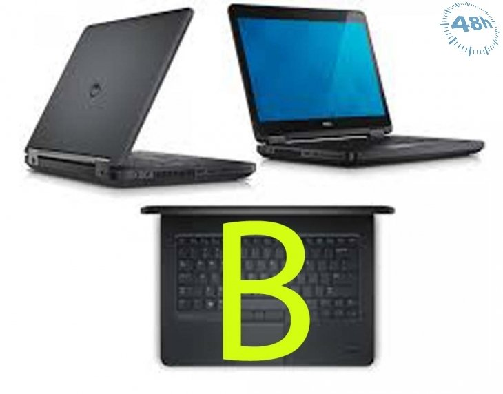 "Notebook Dell Latitude E5440 Core i5-4300U 4Gb 320Gb 14.1"" WEBCAM-WIFI-Windows 7- 10 Professional (GRADO B) batteria inclusa  Nuova macchia lcd -dvd-rw non presente"