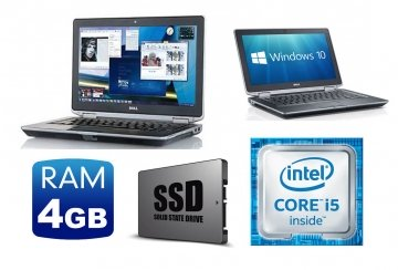 "Notebook Dell Latitude E6330 Core i5-3340M 2.7 GHZ -4Gb 256 SSD 13.3"" DVD-RW-WINDOWS 7-10 GARANZIA-GRADO A++"