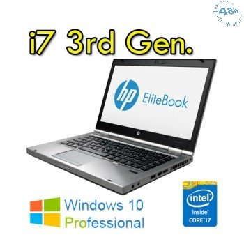 "Notebook HP EliteBook 8470p Core i7-3520M 2.9GHz 8Gb 256Gb SSD(Samsung)  14.1"" LED HD Windows 7-10 Professional"