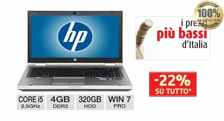 Notebook HP Elitebook 8460p Core i5 2.5GHz 4Gb 320Gb DVD±RW 14.1
