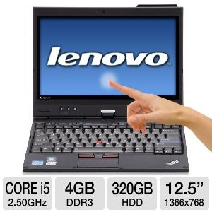 "Notebook Lenovo Thinkpad X220 Core i5-2520M 4Gb 320Gb 12.1"" WXGA Windows 7 Pro"