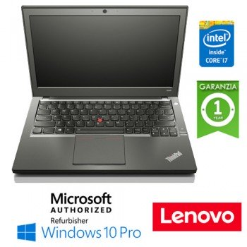 "Notebook Lenovo Thinkpad X240 Core i7-4600U 8Gb 240Gb SSD (NUOVO)12.5"" WEBCAM Windows 10 Professional LEGGERO"