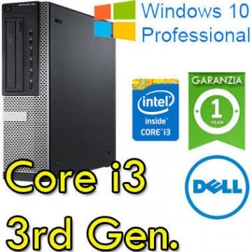 PC Dell Optiplex 3010 SFF Core i3-3220 3.3GHz 4Gb 500Gb DVDRW Windows 7-10 Professional