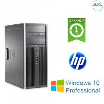 PC HP Compaq 8000 ELITE  Core 2 Duo E8400 3.0GHz 4Gb RAM 500Gb  DVD Windows 10 Professional TOWER