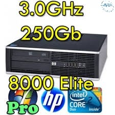 PC HP Compaq 8000 sff Elite Core 2 Duo E8400 3.0GHz 4Gb Ram 250 Gb DVD Windows 10 Professional Ultra Small