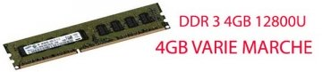 DDR3 DIMM 4GB MEMORIA PER PC 1333MHZ KVR13N9S8/4 KINGSTON CL9 SINGLE RANK