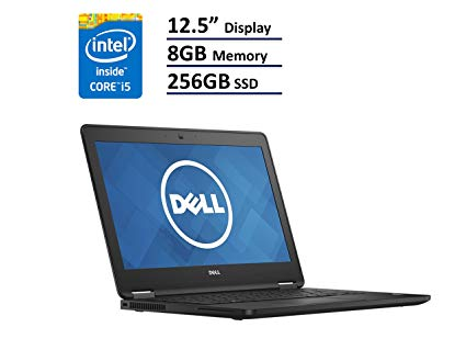 "DELL Latitude E7250 (come nuovo)  2.3GHz i5-5300U 12.5"" 8gb -256 Ssd Windows 10 pro –garanzia 12 mesi"