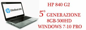 HP Laptop EliteBook 840 G2 Intel Core i5 5300U (2.30 GHz) 8 GB Memory 500 GB HDD Intel HD Graphics 5500 14.0' Windows 7-10  Professional 64