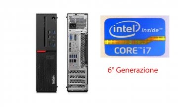 Lenovo ThinkCentre M800 sff Intel® Core™ i7 della sesta generazione i7-6700 4.0 Ghz turbo max 8 gb ddr4 500 hd dvd-Windows 10 pro –garanzia 12 mesi