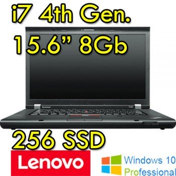 Lenovo ThinkPad T540P Notebook, Processore Core i7, 2,40 GHz, i7 4600-2.9 8GB-256SSD –WINDOWS 10 PRO