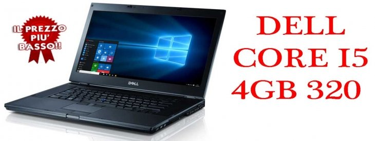 "Notebook Dell Latitude E6410 Core i5-560M 2.670GHz 4Gb Ram 320Gb 14.1"" DVDRW Windows 7-10 Professional"