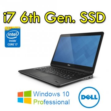 "Notebook Dell Latitude E7470 Core i7-6600U 8Gb (1X8) 256Gb SSD 14.1"" FUL-HD WEBCAM Windows 10 Professional"