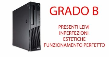 PC Lenovo ThinkCentre M83 Core i3- (GRADO B )4130 3.4GHz 4Gb Ram 250 GB Windows 10 Professional SFF