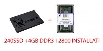 UPGRADE SSD 240 NUOVO +4GB DDR3 ( INSTALLATI )