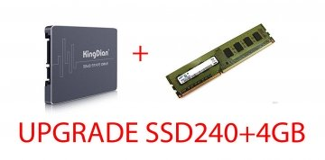 UPGRADE SSD 240 NUOVO +4GB DDR3 ( INSTALLATI ) PER PC-DESKTOP